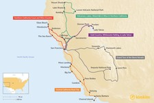 Map thumbnail of One Week in Northern California - 5 Unique Road Trip Ideas