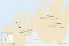 Map thumbnail of Dog Sledding in Northern Norway: 3 Multi-Day Itineraries