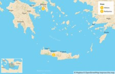 Map thumbnail of Interactive Athens and Crete for Families - 7 Days