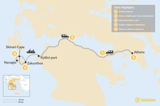 Map thumbnail of Explore Zakynthos Island - 5 Days