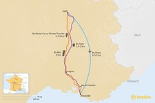Map thumbnail of How to Get from Lyon to Marseille
