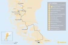 Map thumbnail of Hiking in Southern Patagonia & Tierra del Fuego - 17 Days