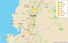 Map thumbnail of Ecuador Mountains to Coast: Andes, Quito, Cotopaxi, & More - 10 Days