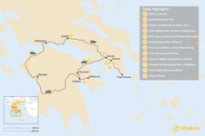 Map thumbnail of Best of Athens & Ancient Greece - 12 Days