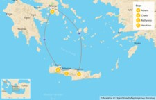 Map thumbnail of Interactive Athens and Crete for Families - 14 Days