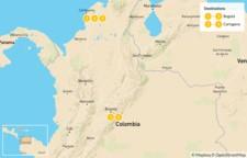Map thumbnail of Bogota and Cartagena - 6 Days