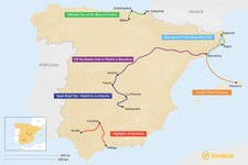 Map thumbnail of 6 Days in Spain - 6 Unique Itineraries