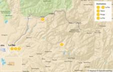 Map thumbnail of Trekking in Bolivia: La Paz & Cordillera Real - 6 Days