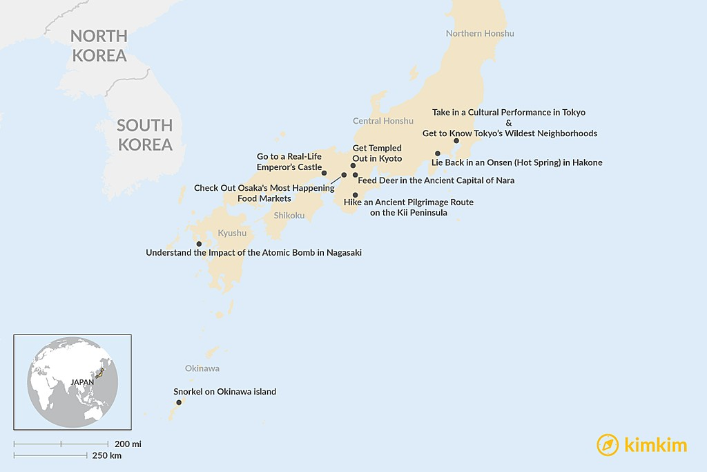 Map of Essential Japan: Top 10 Things to Do & See