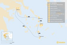 Map thumbnail of Relaxed Athens, Santorini, Naxos & Mykonos - 10 Days