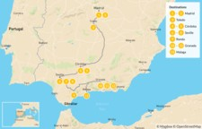 Map thumbnail of Ultimate Southern Spain Road Trip: Madrid, La Mancha, & Andalusia - 14 days
