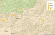 Map thumbnail of Highlights of Western Bhutan - 6 Days