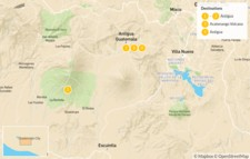 Map thumbnail of Antigua & Acatenango Adventure - 5 Days
