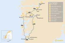Map thumbnail of Norwegian Fjord Road Trip - 11 Days