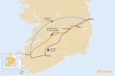 Map thumbnail of How to Get from Dublin to County Kerry