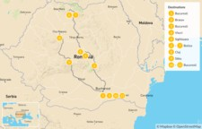Map thumbnail of  Discovering Transylvania & Maramures - 11 Days