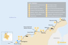 Map thumbnail of Explore Colombia's Caribbean Coast - 12 Days