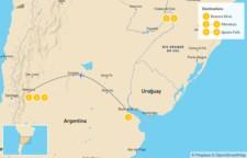 Map thumbnail of Highlights of Argentina: Buenos Aires, Mendoza, & Iguazu Falls - 7 Days