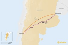 Map thumbnail of How to Get from Buenos Aires to Argentine Patagonia