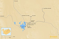 Map thumbnail of Best Sights Around Lake Myvatn: Hikes, Volcanoes, Geothermal Areas