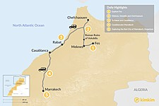 Map thumbnail of Moroccan Towns & Imperial Cities - 5 Days