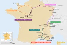 Map thumbnail of 8 Days in France - 6 Unique Itinerary Ideas
