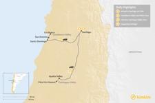 Map thumbnail of Wine tour in Santiago de Chile - 4 Days