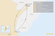 Map thumbnail of Buenos Aires & Iguazu Falls - 6 Days