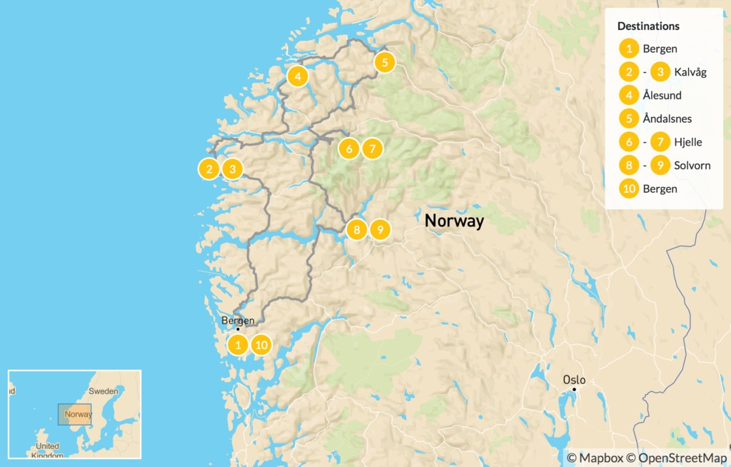 Map of Best of Western Norway - 11 Days