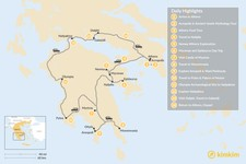 Map thumbnail of Mainland Greece Road Trip - 14 Days