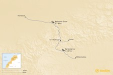 Map thumbnail of How to Get from Marrakech to Aït Benhaddou