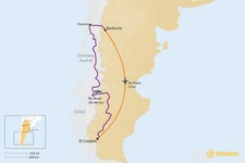 Map thumbnail of How to Get from Bariloche to El Calafate