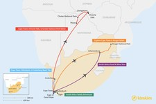 Map thumbnail of 6 Days in South Africa - 5 Unique Itinerary Ideas