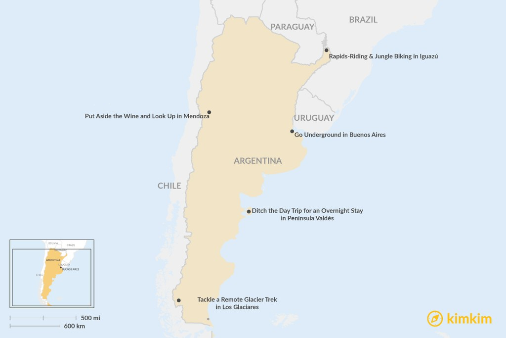 Map of Top Highlights of Argentina (and How to Do Them Differently)