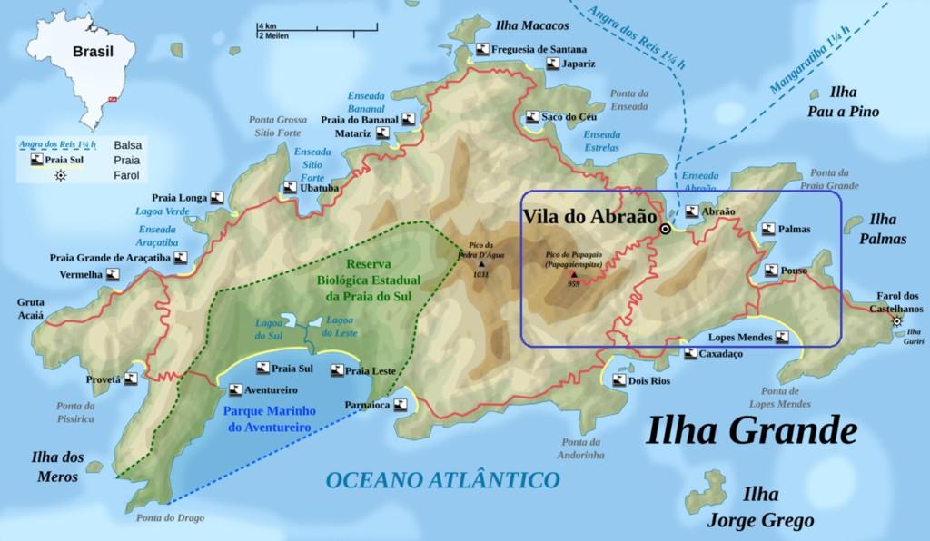 Map of Rio de Janeiro Trek: Angra dos Reis & Ilha Grande - 2 Days
