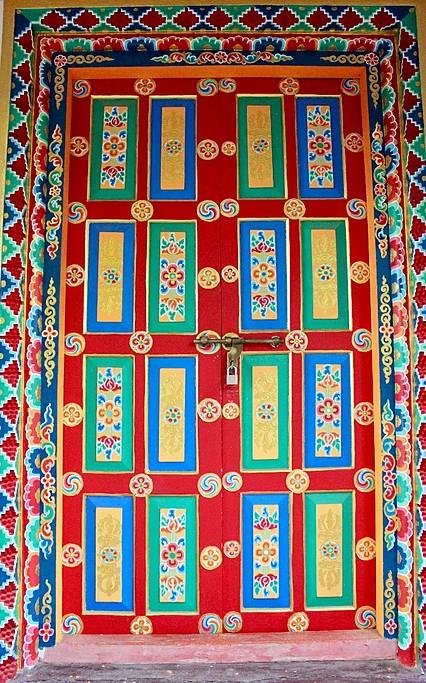 Day 3: the colourful, welcoming doors of Namobhuddha Monestary  | Photo taken by Vidushi G