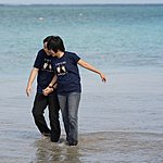 What kind of weirdos wear pants at the beach?! We do... | Photo taken by Shang-Wei P