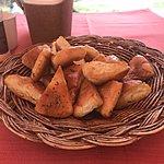 Caryn loved the bread basket   Photo taken by Kristin M