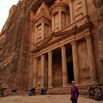 In front of the treasury at Petra | Photo taken by Vinita N