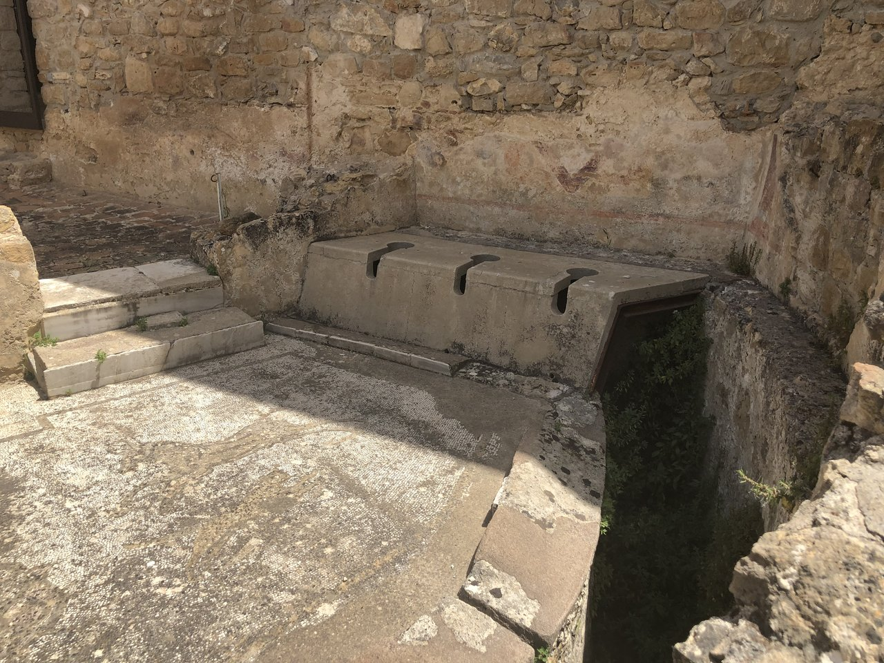 4th century toilets  | Photo taken by ingrid B