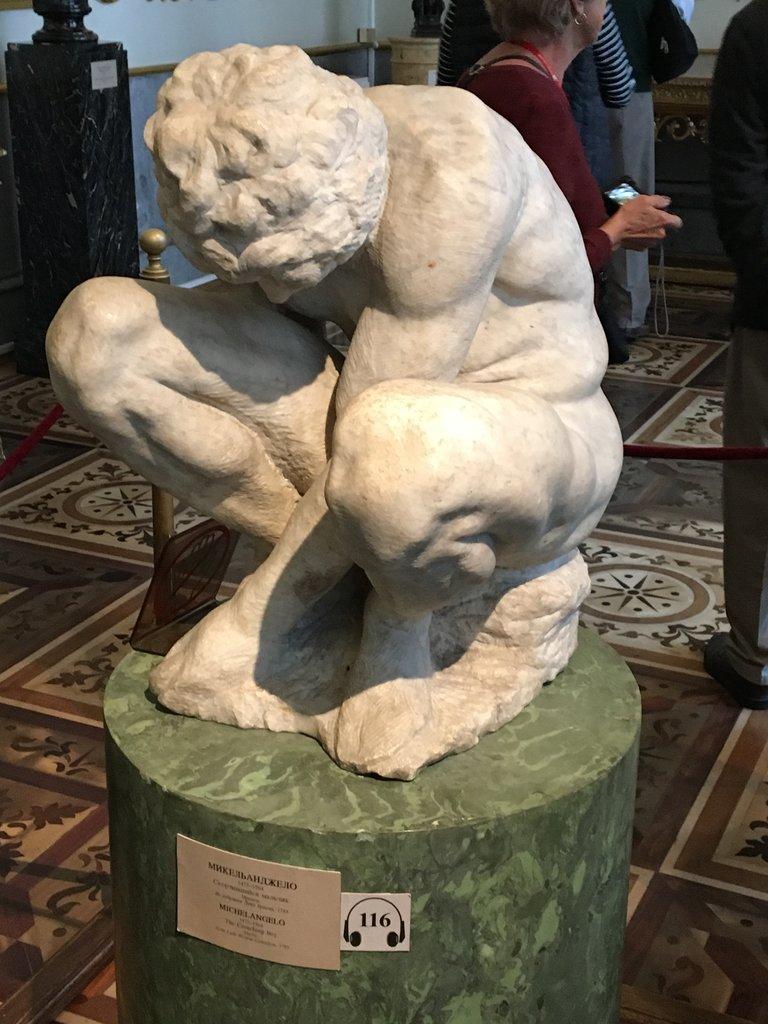 Michelangelo unfinished sculpture, Hermitage | Photo taken by Diane P