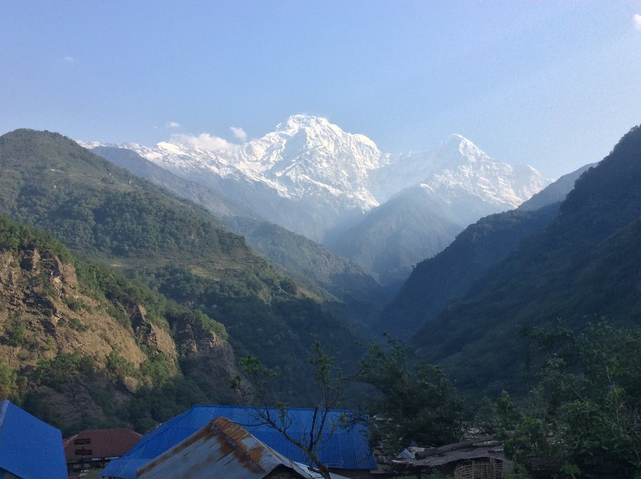 Annapurna South, on the trek to Ghandruk | Photo taken by Peter A