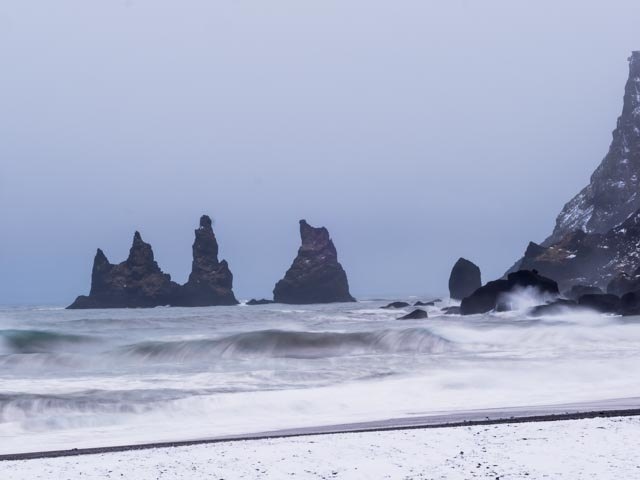 Black Sand Beach at Vik | Photo taken by Grace L