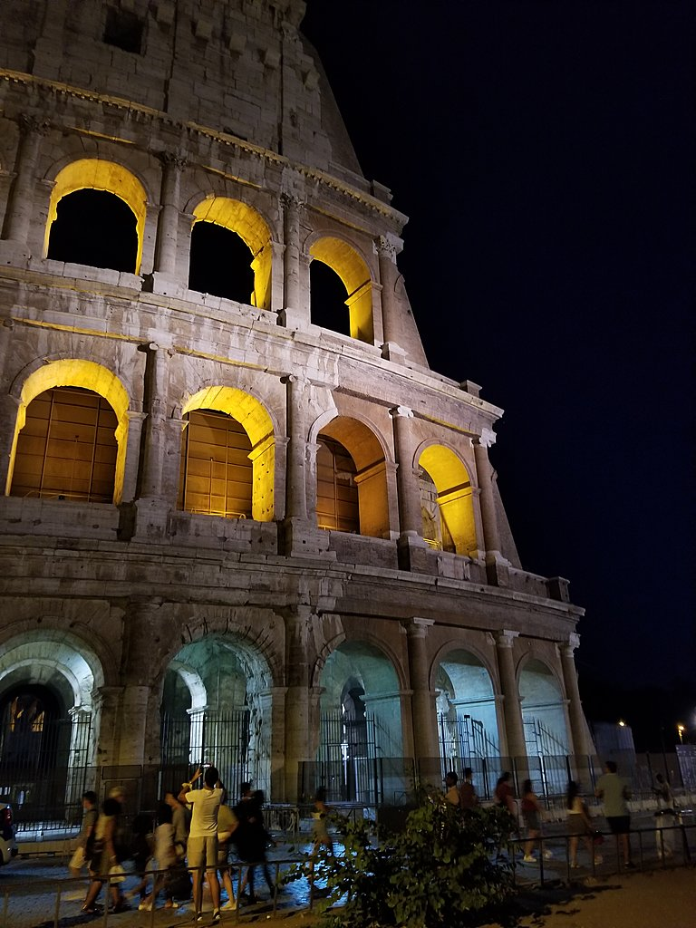 Colosseum at night | Photo taken by lilia s