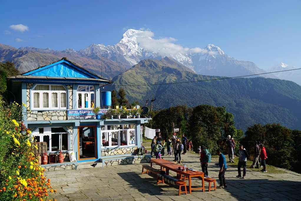 Guest house on the trek | Photo taken by Maria S