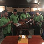 These Guys played Ten Guitars on request at the Curry Leaf !! Fab quartet.  | Photo taken by Vicky V