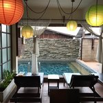 View of the pool from the dining room | Photo taken by Deborah B