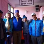 At the Lukla airport with our great guides Lahkpa and Tashi | Photo taken by Dorine Harris