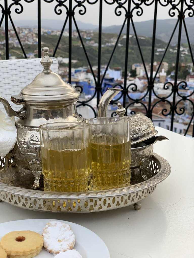 Moroccan tea at the riad    Photo taken by Filipinas C