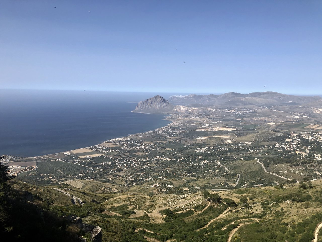 View of Trapani from Erice | Photo taken by ingrid B